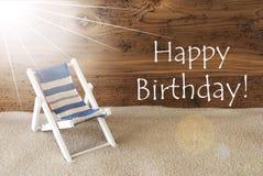 Cumpleaños de Sunny Greeting Card And Text del verano feliz fotos de archivo