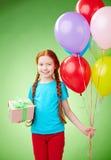 Cumpleaños de una muchacha Fotografía de archivo