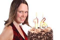 Cumpleaños del adolescente de dieciséis años Fotos de archivo