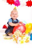 Cumpleaños del bebé Imagen de archivo libre de regalías
