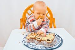 Cumpleaños del bebé fotografía de archivo