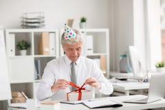 Cumpleaños del director Foto de archivo libre de regalías