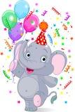 Cumpleaños del elefante del bebé Imagen de archivo libre de regalías