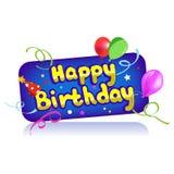 Cumpleaños del icono Foto de archivo libre de regalías