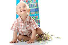 Cumpleaños del muchacho del niño imagen de archivo libre de regalías