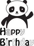 Cumpleaños del ` s de la panda feliz Foto de archivo libre de regalías