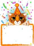 Cumpleaños del tigre de bebé Fotografía de archivo