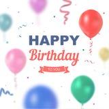 Cumpleaños del vector Imagen de archivo libre de regalías