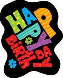 Cumpleaños en negro Imagenes de archivo