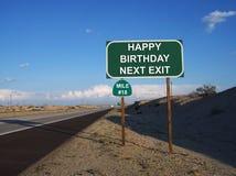 Cumpleaños feliz de la señal de tráfico décimo octavo Imagen de archivo libre de regalías
