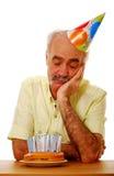 Cumpleaños mayor Imagen de archivo libre de regalías