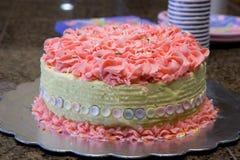 Cumpleaños rosado Imágenes de archivo libres de regalías