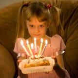Cumpleaños - seis velas Fotografía de archivo