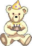 Cumpleaños Teddy Bear Imagenes de archivo