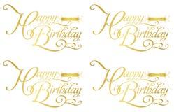 Cumpleaños-zodiaco feliz stock de ilustración