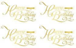 Cumpleaños-zodiaco feliz Imágenes de archivo libres de regalías