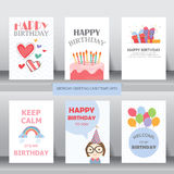 Cumpleaños, día de fiesta, saludo de la Navidad y tarjeta de la invitación Fotografía de archivo libre de regalías