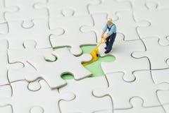 Cumpra a parte faltante para o conceito da estratégia do sucesso comercial, fotografia de stock royalty free