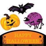 Cumprimentando o cartão bonito de Halloween Imagens de Stock Royalty Free