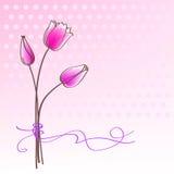 Cumprimentando o cartão floral ilustração stock