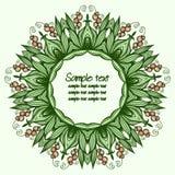 Cumprimentando o cartão floral Imagem de Stock Royalty Free