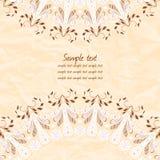 Cumprimentando o cartão floral Fotos de Stock Royalty Free