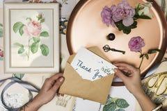 Cumprimente o estilo de vida das rosas da flor dos cartões imagem de stock royalty free