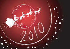 Cumprimento 2010 do trenó de Santa Imagem de Stock Royalty Free