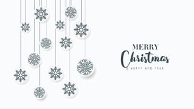 Cumprimento animado do Natal no fundo branco ilustração stock