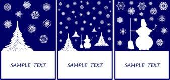 Cumprimento-cartões do inverno Foto de Stock Royalty Free