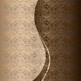 Cumprimento, convite, casamento, cartão ao estilo do vintage no ouro, chocolate, máscaras de bronze ilustração stock