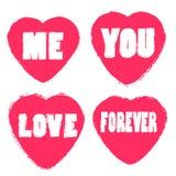 Cumprimento da cenografia do ícone do dia de Valentim do coração do amor Imagem de Stock