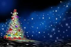 Cumprimento da Noite de Natal Foto de Stock Royalty Free