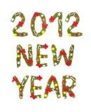 Cumprimento da véspera de Ano Novo. 2012 Fotos de Stock Royalty Free