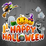 Cumprimento de Halloween Fotografia de Stock