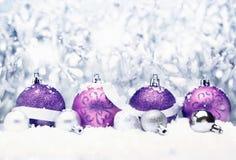 Cumprimento decorativo do Natal Fotos de Stock Royalty Free