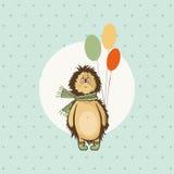Cumprimento do aniversário do ouriço Fotografia de Stock