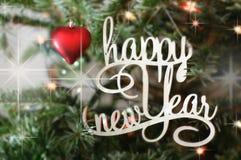 Cumprimento do ano novo feliz Foto de Stock Royalty Free
