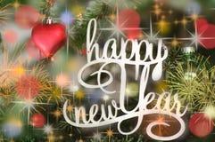Cumprimento do ano novo feliz Foto de Stock