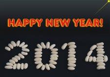 Cumprimento do ano novo feliz para 2014 imagens de stock