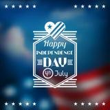 Cumprimento do Dia da Independência do Estados Unidos da América ilustração do vetor