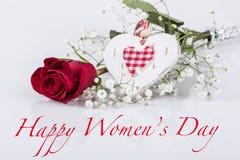Cumprimento do dia das mulheres Imagem de Stock Royalty Free