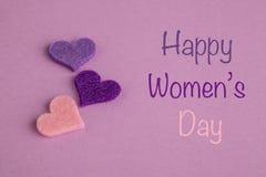 Cumprimento do dia das mulheres Fotografia de Stock Royalty Free