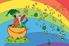 Cumprimento do dia de St Patrick ilustração do vetor