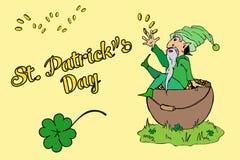 Cumprimento do dia de St Patrick ilustração royalty free