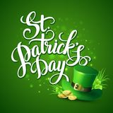 Cumprimento do dia do St Patricks Ilustração do vetor Fotos de Stock Royalty Free