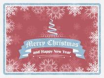 Cumprimento do Feliz Natal e do ano novo feliz no estilo do vintage Fotografia de Stock
