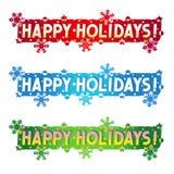 Cumprimento do feriado - boas festas! Imagem de Stock