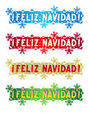 Cumprimento do feriado - Feliz Natal! - no espanhol Imagens de Stock