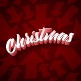 Cumprimento do Natal Imagens de Stock Royalty Free